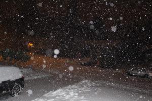 night snow fall
