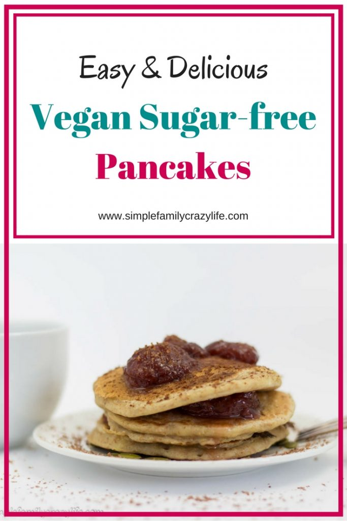 Vegan sugar-free pancakes - easy and delicious