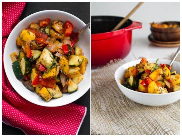Summer vegan dishes