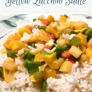 Summer dishes recipes - yellow zucchini sauté - vegan