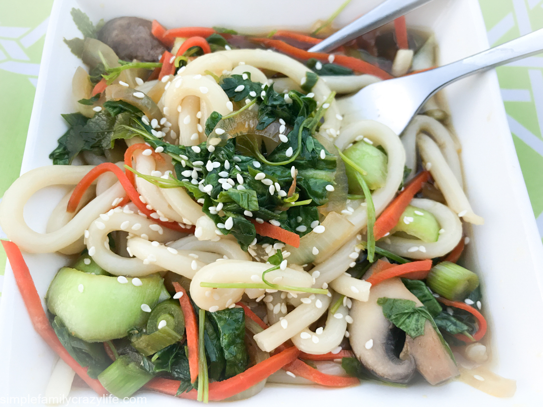 Veggie Udon Noodle Soup made in 20 minutes Vegan