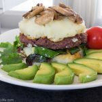 Vegan Red Beans Veggie Burger with Potato Patties