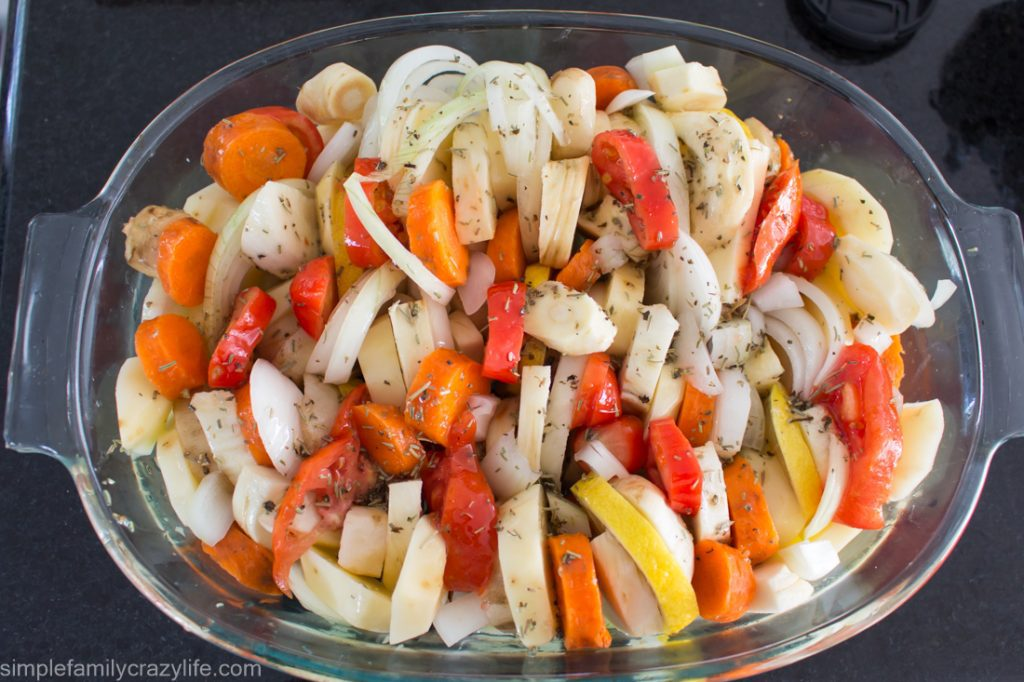 Oven-Roasted Vegetables - delicious vegan and gluten-free dish to make when you have no time for cooking