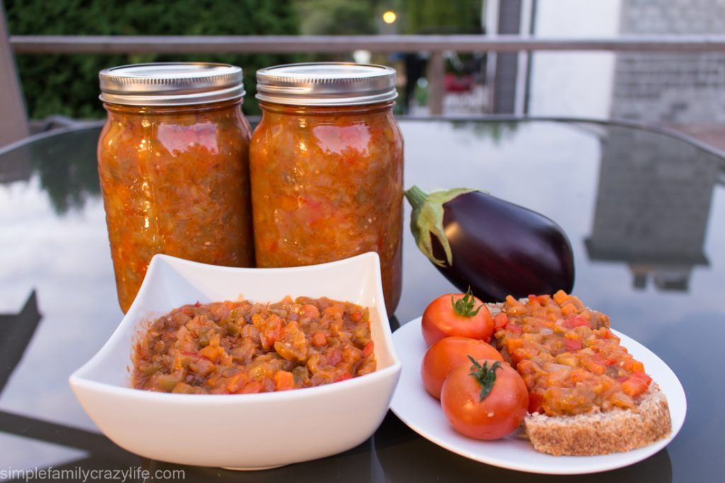 Delicious Vegan Eggplant Relish for Canning