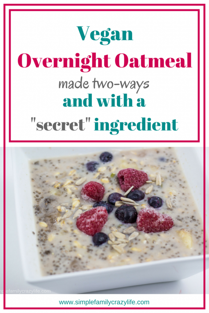 Overnight vegan oatmeal