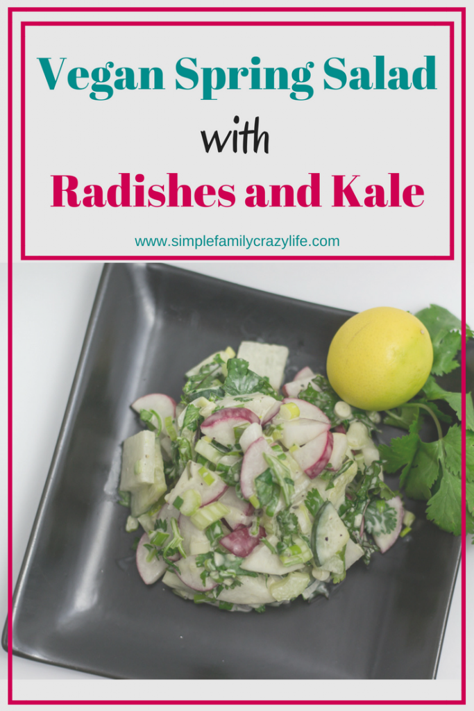Vegan Spring Salad with Radishes and Kale