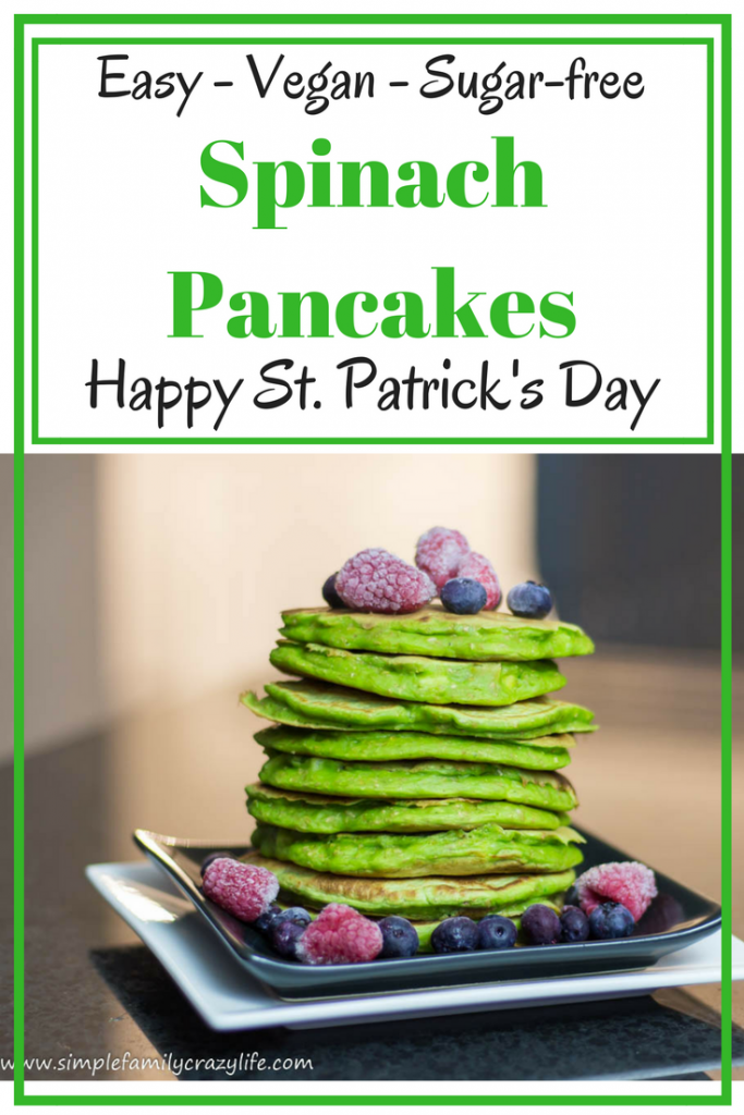 St. Patrick's Day Vegan Spinach Pancakes