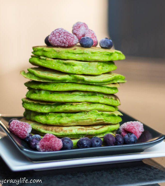 St. Patrick's Day Vegan Spinach Pancakes