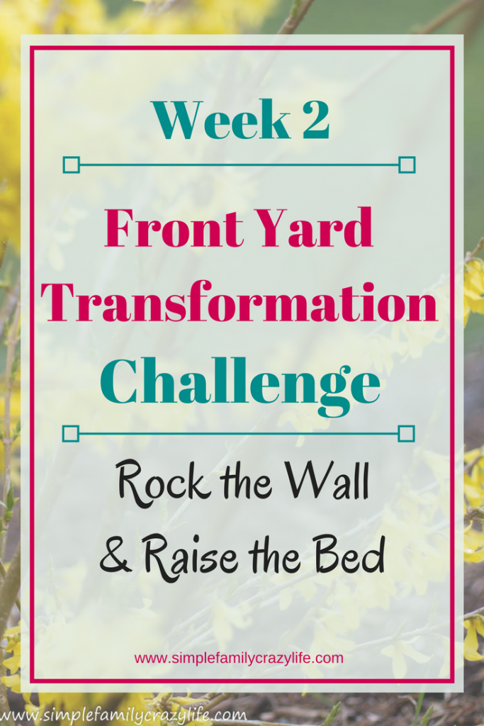 Front Yard Transformation Challenge - Yard Transformation Project week 2
