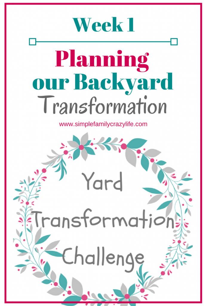 Yard Transformation Challenge 2018 - planning the backyard
