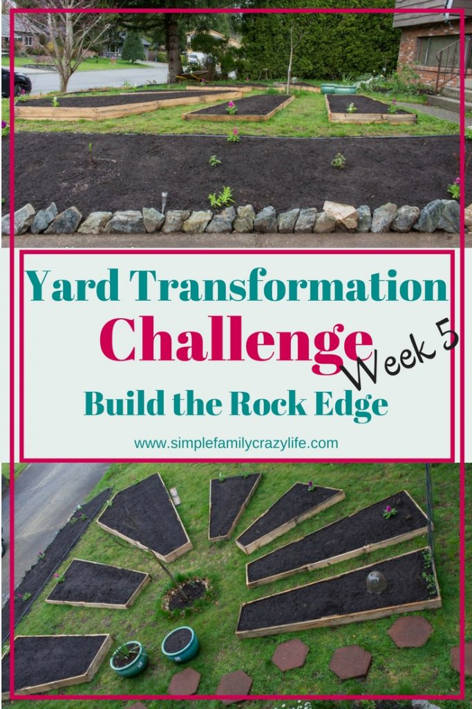 Front Yard Transformation Challenge - week 5 - building a new flower bed with a rock/stone edge