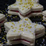 Star-Shaped Vegan Sandwich Cookies with Glitter Stars