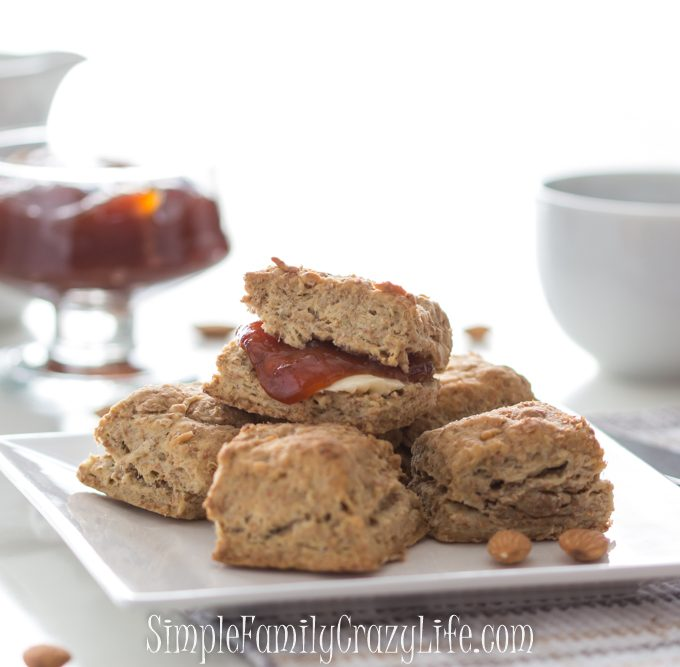 Vegan whole wheat and almond flour biscuits
